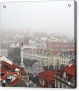 Foggy Day At Lisbon. Portugal Acrylic Print