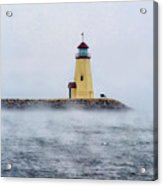 Foggy Day At The Lighthouse Acrylic Print