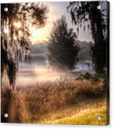 Foggy Dreamworld Acrylic Print