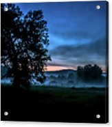 Foggy Evening In Vermont - Landscape Acrylic Print