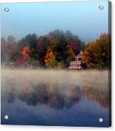 Foggy Fall Reflections Acrylic Print