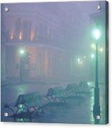 Foggy French Quarter Acrylic Print