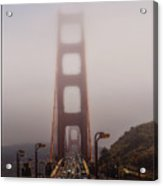 Foggy Golden Gate Acrylic Print