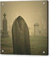 Foggy Gravestone  Acrylic Print