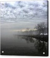 Foggy Hudson River Shore Acrylic Print