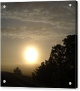 Foggy June Sunrise Acrylic Print