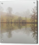 Foggy Lagoon Reflection #1 Acrylic Print