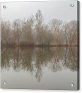 Foggy Lagoon Reflection #5 Acrylic Print