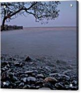 Foggy Lake At Night Acrylic Print
