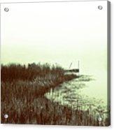 Foggy Lake Pier Acrylic Print