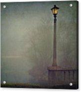 Foggy Lampost Acrylic Print