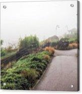 Foggy Langmoor Gardens - Lyme Regis Acrylic Print