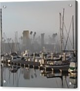 Foggy Marina Morning 2 Acrylic Print