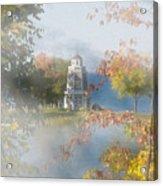 Foggy Morning At The Lake Acrylic Print