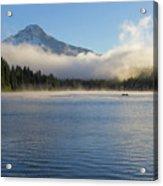 Foggy Morning At Trillium Lake Acrylic Print