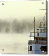 Foggy Morning Cruise Acrylic Print