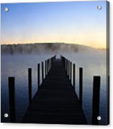 Foggy Morning Docks 1 Acrylic Print