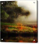 Foggy Morning Mill Pond Acrylic Print