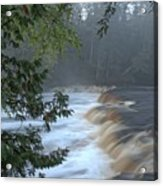Foggy Morning On Lower Tahquamenon Falls Acrylic Print