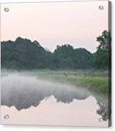 Foggy Morning Reflections Acrylic Print