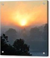 Foggy Morning Sunrise Acrylic Print