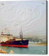 Foggy Morro Bay Acrylic Print