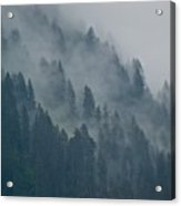 Foggy Mountain Ridge Acrylic Print