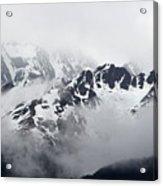 Foggy Mountains Acrylic Print