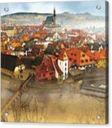 Foggy Small Town Acrylic Print