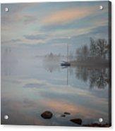 Foggy Sunrise At Great Pond 2 Acrylic Print