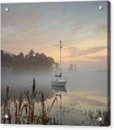 Foggy Sunrise At Great Pond 3 Acrylic Print