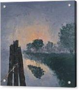 Foggy Sunrise At The Locks Acrylic Print