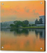 Foggy Sunrise At The Tidal Basin Acrylic Print
