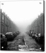 Foggy Terrace Acrylic Print by Paul Downing