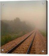 Foggy Tracks Acrylic Print