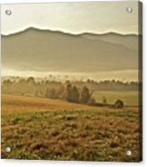 Foggy Valley Acrylic Print