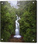 Foggy Waterfall Acrylic Print