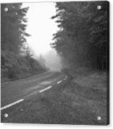 foggy way  BW Acrylic Print