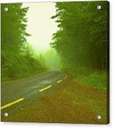 Foggy Way.  Acrylic Print