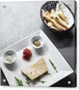 Foie Gras French Traditional Duck Pate With Bread  Acrylic Print