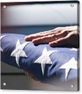 Folded American Flag Acrylic Print