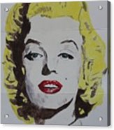Folded Marilyn Acrylic Print