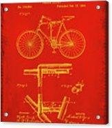 Folding Bycycle Patent Drawing 1c Acrylic Print