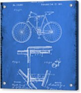 Folding Bycycle Patent Drawing 1d Acrylic Print