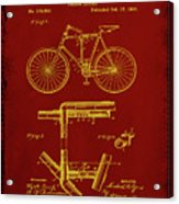 Folding Bycycle Patent Drawing 1f Acrylic Print