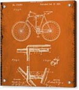 Folding Bycycle Patent Drawing 1g Acrylic Print