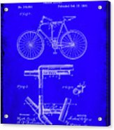 Folding Bycycle Patent Drawing 1h Acrylic Print