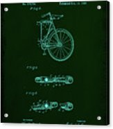 Folding Bycycle Patent Drawing 2a Acrylic Print