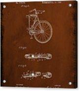 Folding Bycycle Patent Drawing 2c Acrylic Print