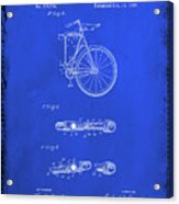 Folding Bycycle Patent Drawing 2d Acrylic Print